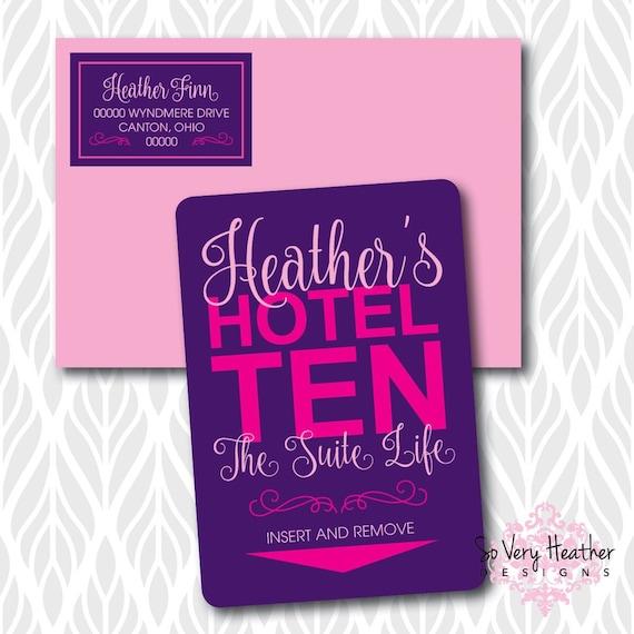 Hotel Sleepover Birthday Party! Matching Address Labels