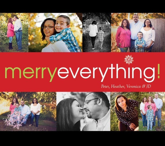 Merry Everything! Photo Christmas Cards - Digital File OR Printed