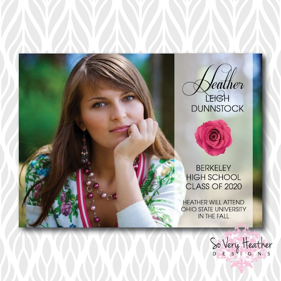 Photo Graduation Invitations/Announcements | Perfect for College, High School or Preschool Graduates - Digital File OR Printed