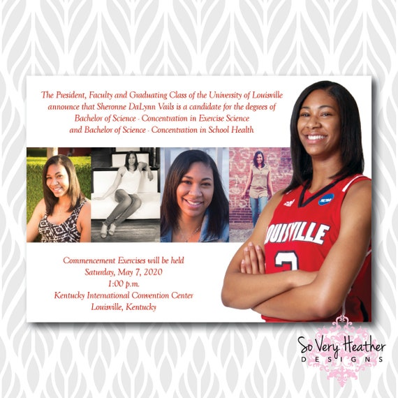 Photo Collage Graduation Invitations/Announcements | Perfect for College, High School or Preschool Graduates - Digital File OR Printed