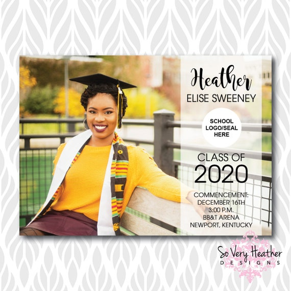 Photo Graduation Invitations/Announcements | Perfect for College, High School or Preschool Graduates - Digital File OR Printed
