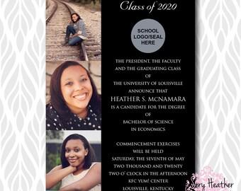 Photo Collage Graduation Invitations/Announcements | Perfect for College, High School or Preschool Graduates - Digital File OR Printed