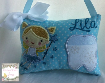 girls Personalized tooth fairy pillow, Tooth fairy pillow, personalized birthday gift