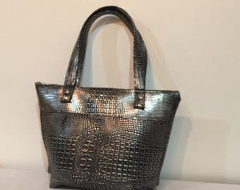 Black vegan Leather Handbag