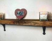 kitchen shelf with cast iron flat brackets solid oak shelf ( 8 quot ) alcove shelves shelves oak shelves