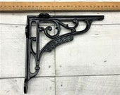 CAST iron quot GWR 1833 quot Shelf Bracket 7 quot x 7.75 quot black finish - ideal for 8-10 quot shelves antique vintage ironmongery