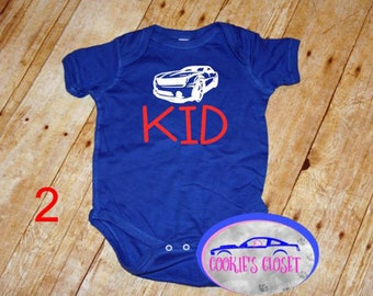 e20d2fc3b0a25 Muscle Car Kid One Piece Infant Bodysuit Choose from 2 cars!