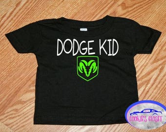 Dodge Kid Infant (baby) Cotton T-Shirt (clothing) Perfect gift for the Dodge car or Ram truck lover