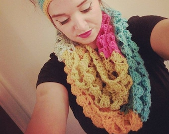 Crochet Ombre Infinity Scarf