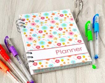 Personalized planner 2018 2019 Agenda 2018 Floral planner Undated planner notebook Monthly weekly planner calendar Agenda organizer spiral
