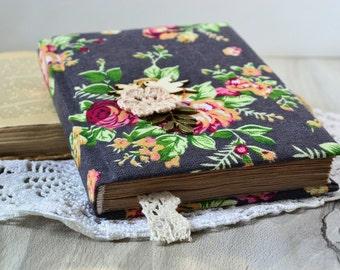 Carnet de notes roses A6, journal de fleurs, carnet Vintage, Journal de Roses, carnet de tissu fait main pour les femmes, journal intime Antique, vieux papiers