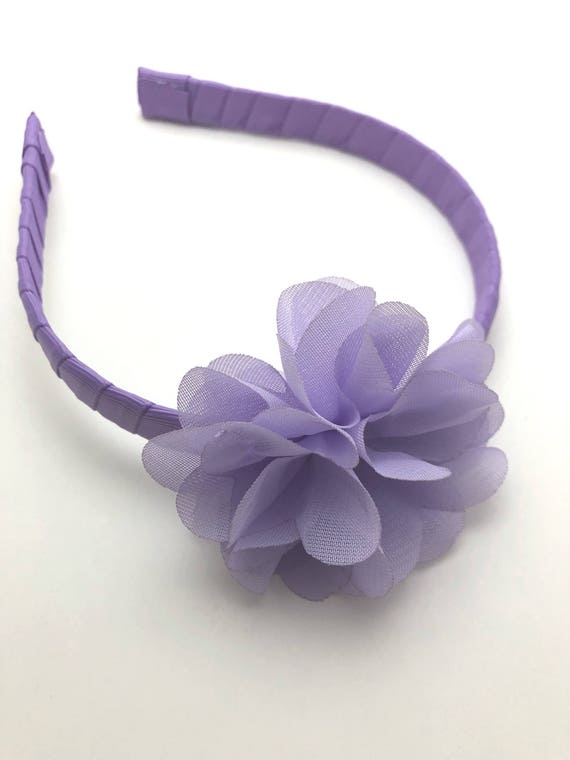 cakesmash Purple pink blue cluster headband {bright headband floral headband baby headband sitter band} boho headband toddler headband