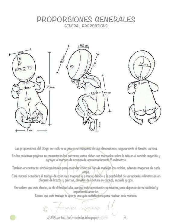 PDF: Moldes y Tutorial para Coser Muñeca Bebé Variaciones de | Etsy