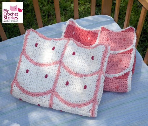 Crochet Baby Blanket Pattern White Cats Blanket Pattern Cat Etsy