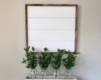 Shiplap. Medium Framed Shiplap sign. Real shiplap. Shiplap wall decor. Farmhouse decor. Farmhouse style. Farmhouse decor. Wreath holder.