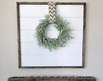 Shiplap. Large Framed Shiplap sign. Shiplap wall decor. Farmhouse decor. Farmhouse style. Farmhouse wall decor. Wreath holder. Frame holder