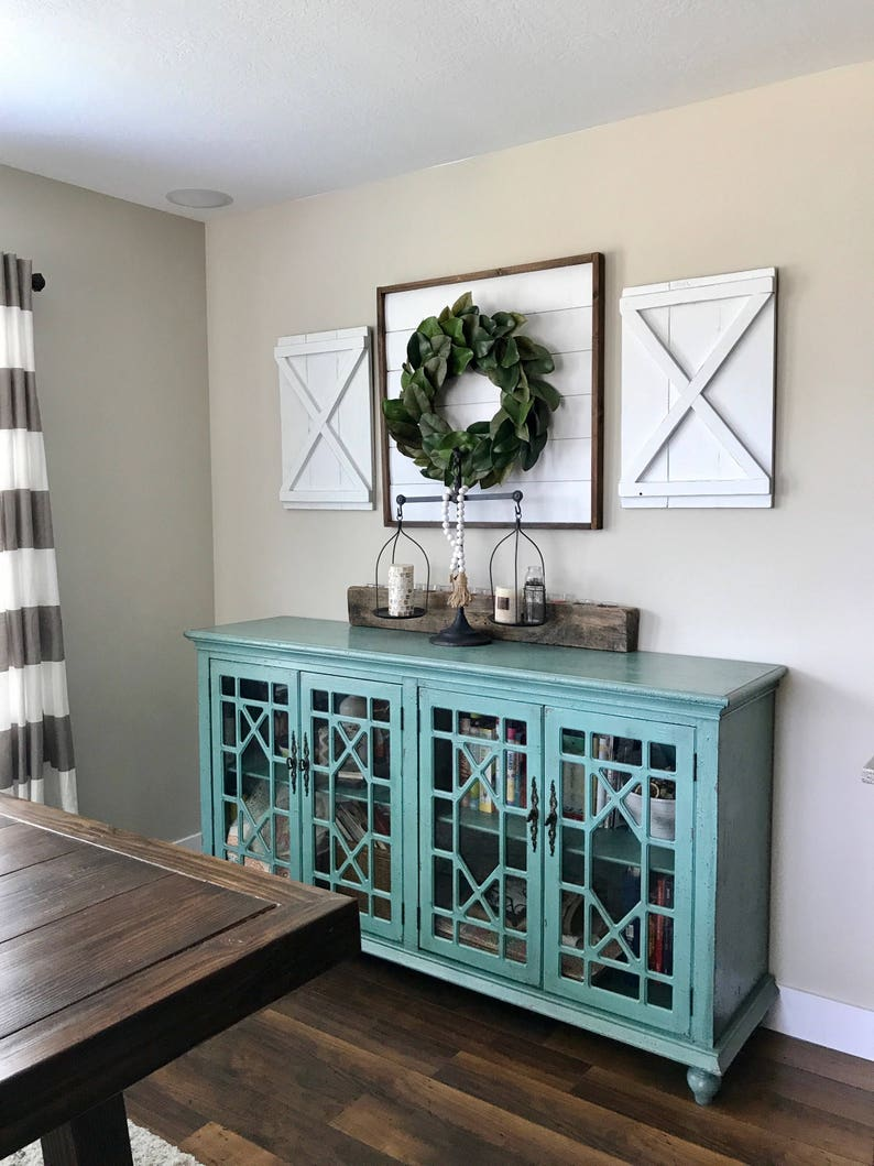 Pair Of Large Decorative X Wood Shutters Rustic Shutters Farmhouse Shutters Shutter Decor Barn Doors Interior Shutters More Colors