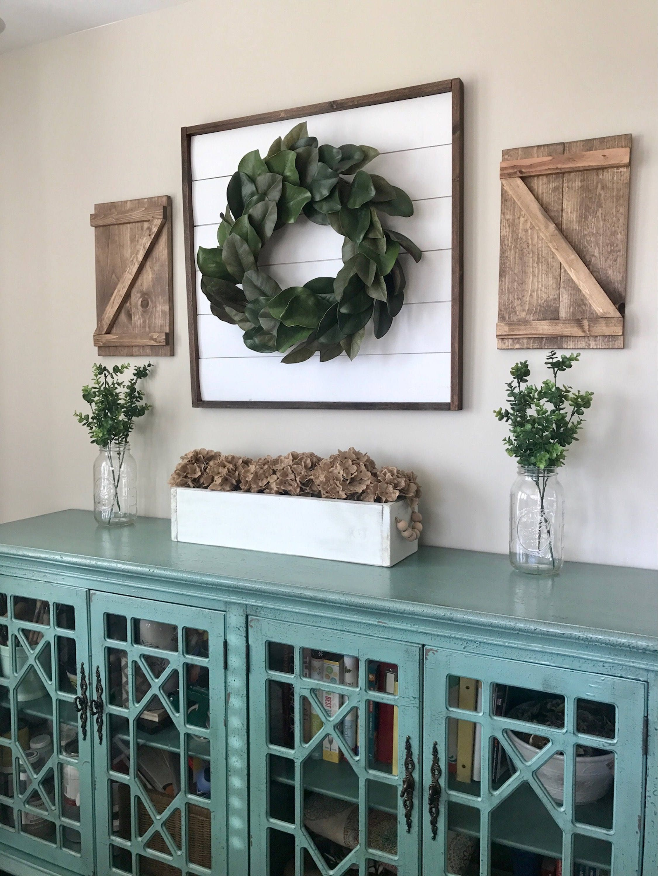 Decorative Metal Shutters For Living Room Interior Houston Tx: Pair Of Small Decorative Z Wood Shutters. Rustic Shutters