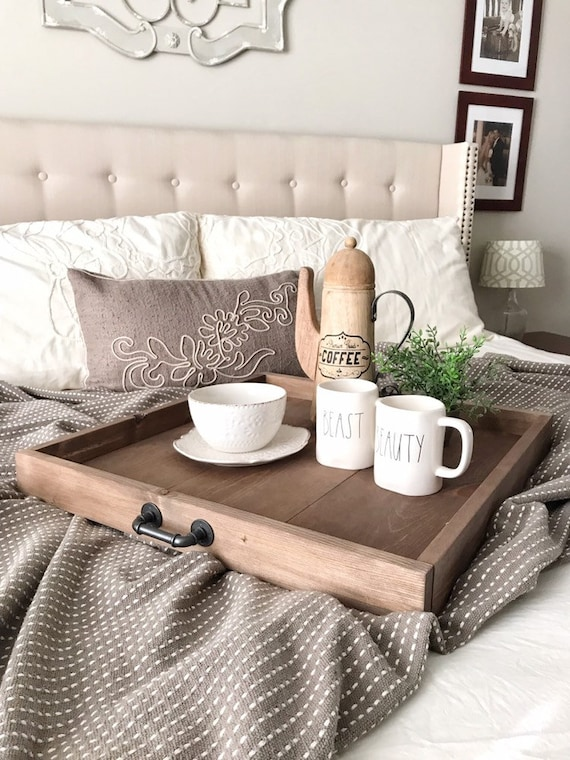 Incredible Large Square Tray Ottoman Wood Tray Rustic Centerpiece Rustic Wooden Serving Tray Coffee Table Tray Wood Tray More Options Ncnpc Chair Design For Home Ncnpcorg