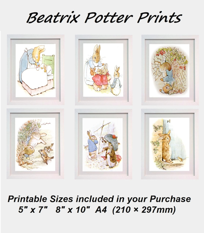Peter rabbit prints Tale of Beatrix Potter Picture Card Poster Print ONLY A4