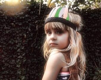CUSTOM - MADE ORDER *S* handgemaakte verentooi voor kinderen met 8 veertjes