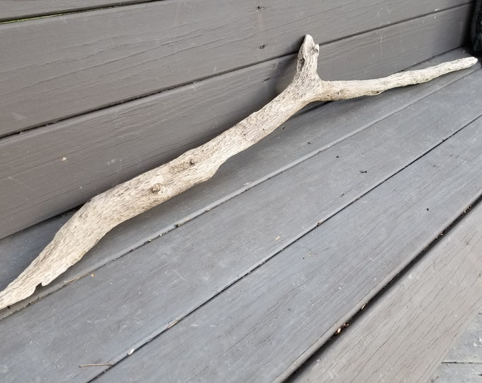 Pitted Driftwood Limb. Unique Weaving Macrame Knitting Hanging. Wall Art Decor.