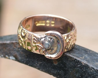 Antique Rose Gold Buckle Ring