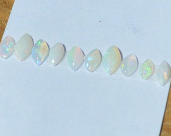 Australian Opal, Natural Loose Marquise Cabochons, Total of 10