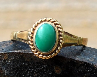 9ct Gold Turquoise Ring, Vintage