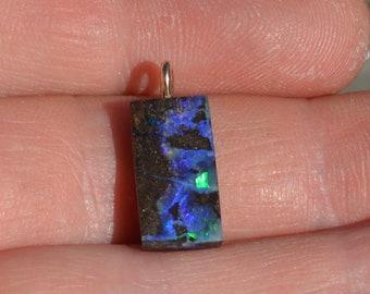 9ct Gold Boulder Opal Pendant, Queensland Boulder Opal