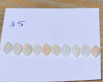 Natural Loose Australian Opal Marquise Cabochons, Total of 10