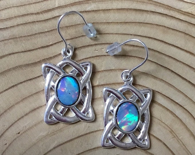 Celtic Opal Earrings