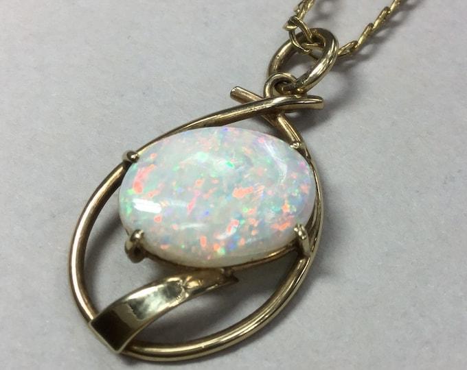 9ct Opal Pendant, Australian Crystal Opal