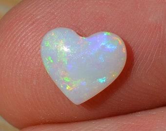 Australian Opal Heart, Natural Loose Opal Cabochon