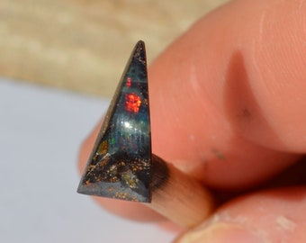 Loose Triangle Queensland Boulder Opal, 15 x 7 mm