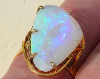 9ct Gold Australian Opal Ring, Large