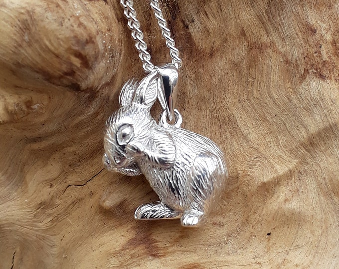 Sterling Silver Rabbit Pendant and Chain