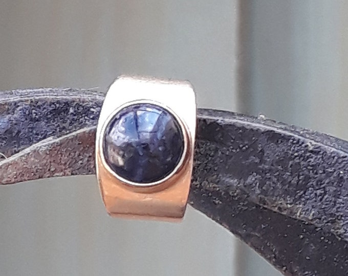9ct Gold Blue Tigers Eye Ring, Vintage