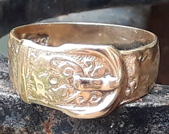 Antique 9ct Gold Buckle Ring,