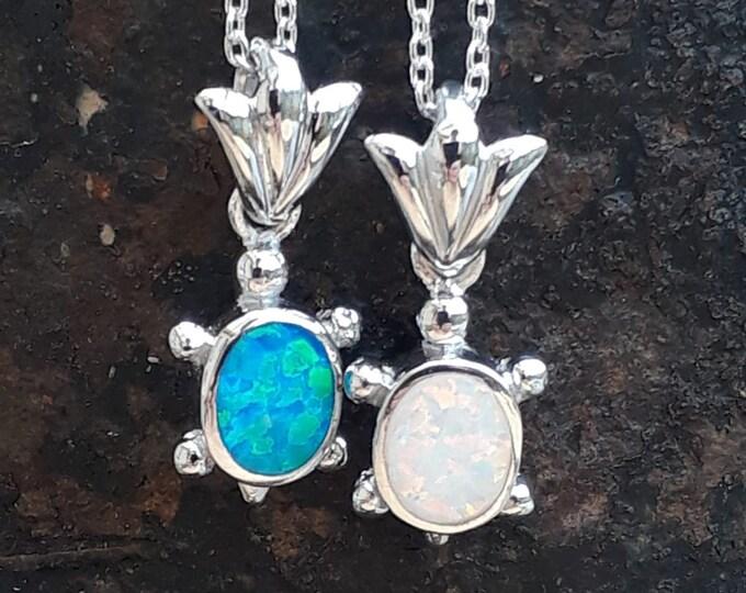 Opal Tortoise Pendant