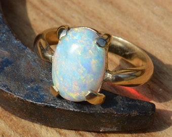 SOLD      Custom Order,   9ct Gold Opal Ring,