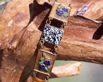 Vintage Enamel Floral Bracelet