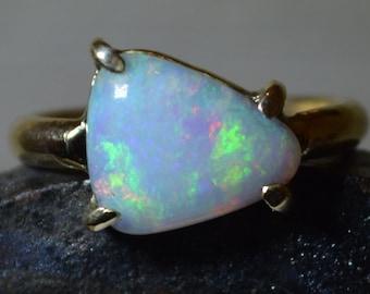 Large 9ct Gold Opal Statement Ring, Australian Opal