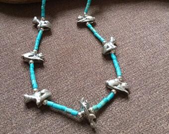 Zuni Fetish Turquoise Necklace