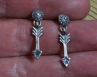 Sterling Silver Arrow Drop Earrings, Silver Arrow Earrings