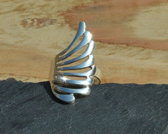 Sterling Silver Polished Statement Ring