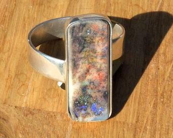 Handmade Silver and Australian Opal Ring