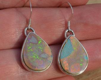 Large Boulder Opal Teardrop Earrings