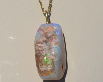 9ct Gold Australian Opal Pendant