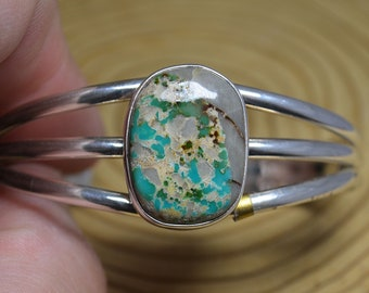 Silver and Boulder Turquoise Bangle, RCC